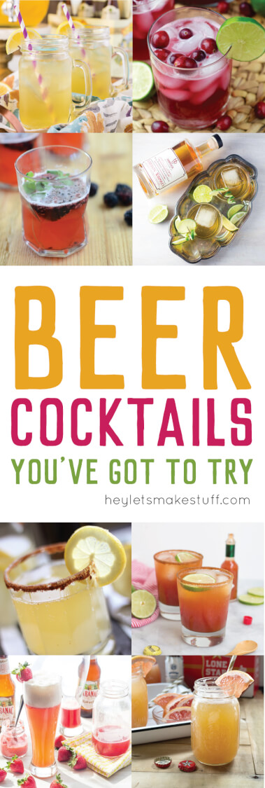This beer cocktail round up will help you take your beer to a whole new level. Mix up these delicious (and boozy!) beer cocktails!