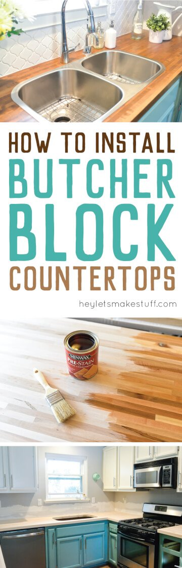 Here Is The Process We Used To Install Our Butcher Block Countertops, As  Well As