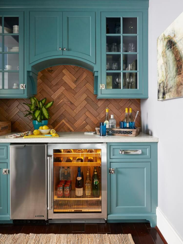 Teal cabinet paint colors hey let 39 s make stuff for Teal kitchen cabinets