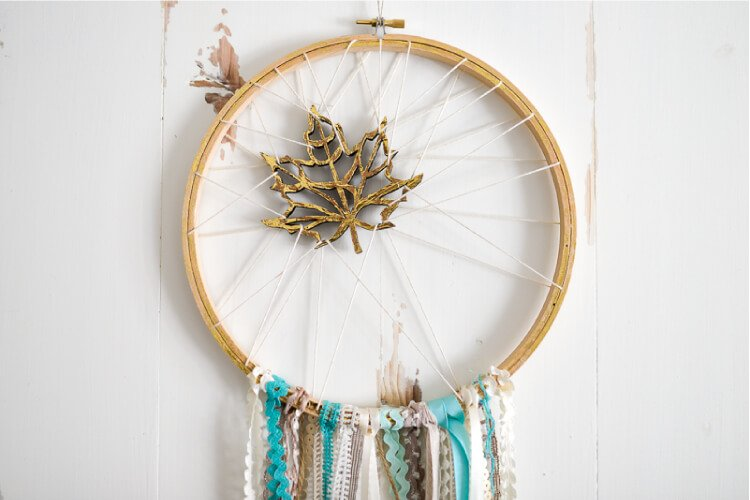 A DIY dream catcher adds softness and whimsy to any home decor -- and there's no weaving involved in this version!