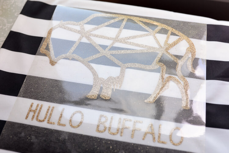 cut hullo buffalo SVG glitter vinyl cutout