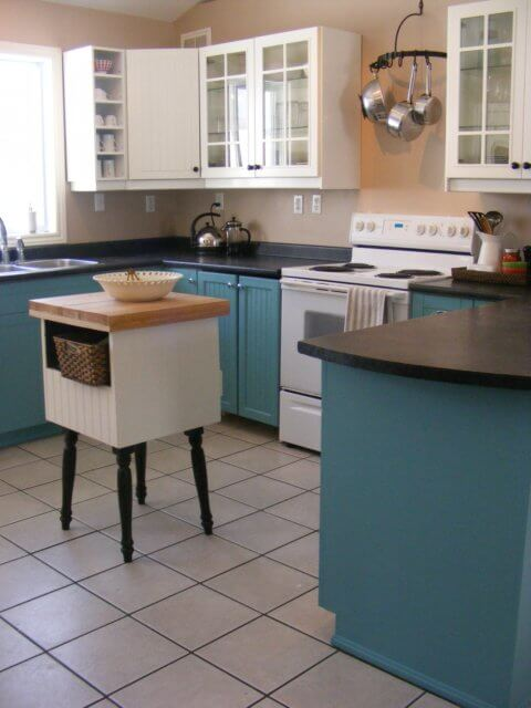 Teal Cabinet Paint Colors - Hey, Let's Make Stuff
