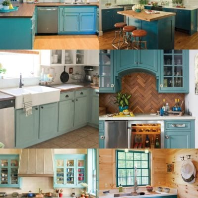 Teal Cabinet Paint Colors