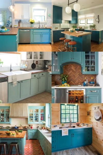 Teal Cabinet Paint Colors