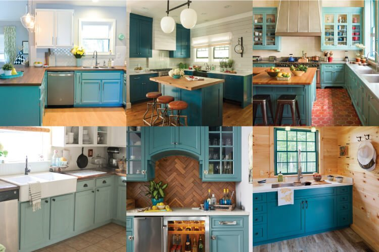 Painting Your Cabinets A Fun Shade Of Teal Might Feel Like A Big Risk