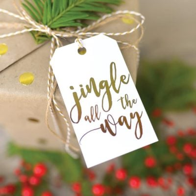 Foiled Christmas Carol Gift Tags