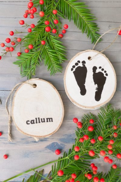 Newborn Footprint Ornaments