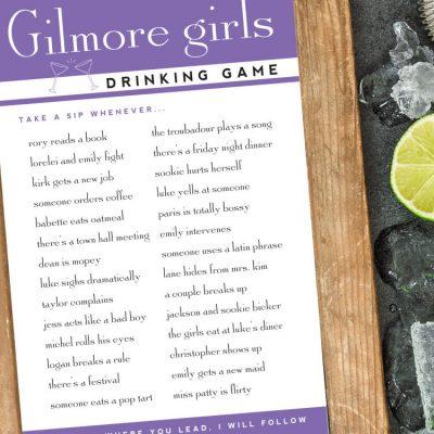 Gilmore Girls Drinking Games – Free Printable