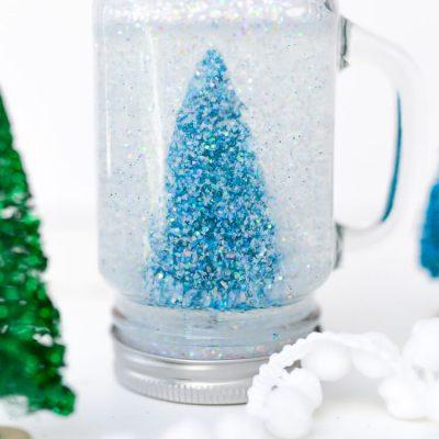 Glittery Mason Jar Snow Globe