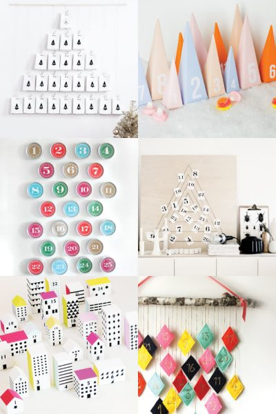 DIY Modern Advent Calendars
