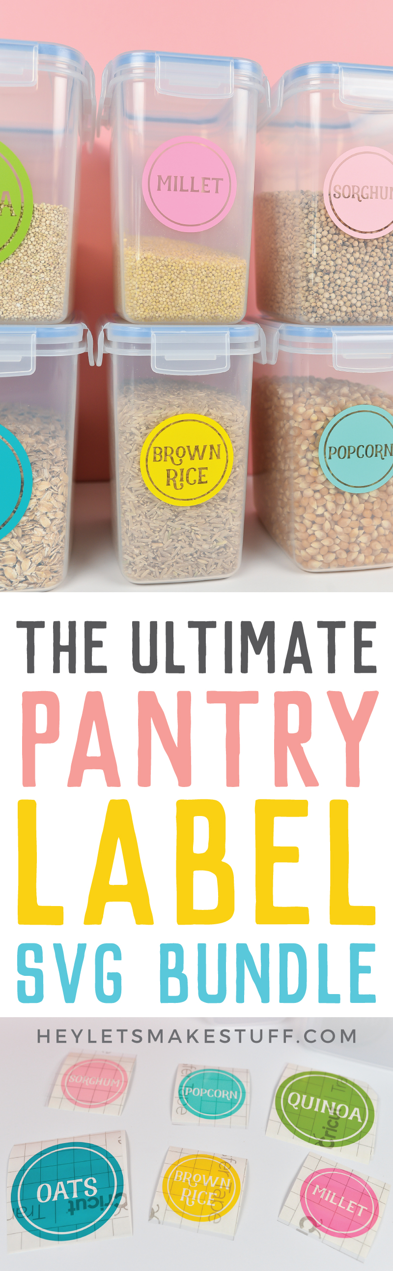 Colorful pantry label set