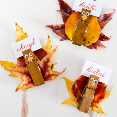 Easy Turkey Place Card Holders