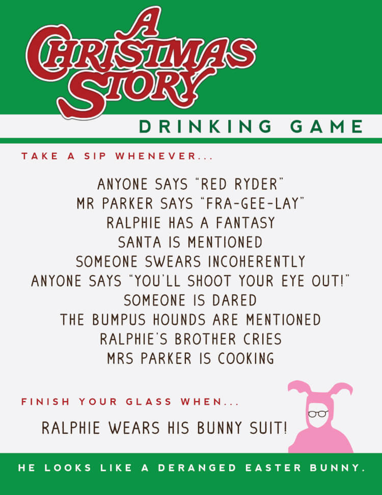 A Christmas Story Drinking Game - Hey, Let's Make Stuff