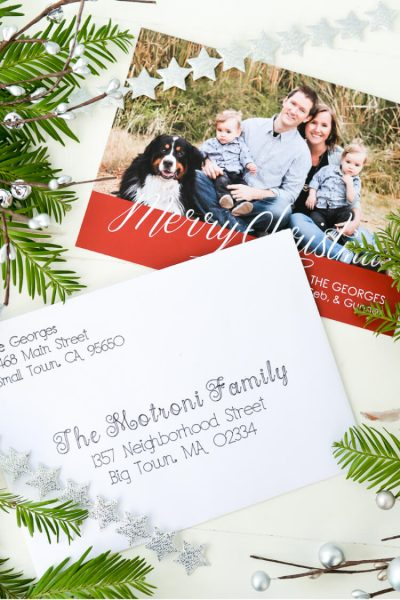 Address Christmas Cards using your Cricut Explore