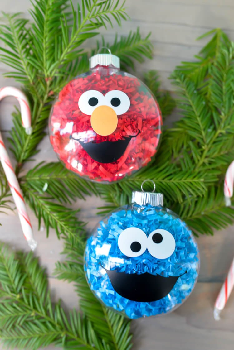 DIY Sesame Street Ornaments - Hey, Let's Make Stuff