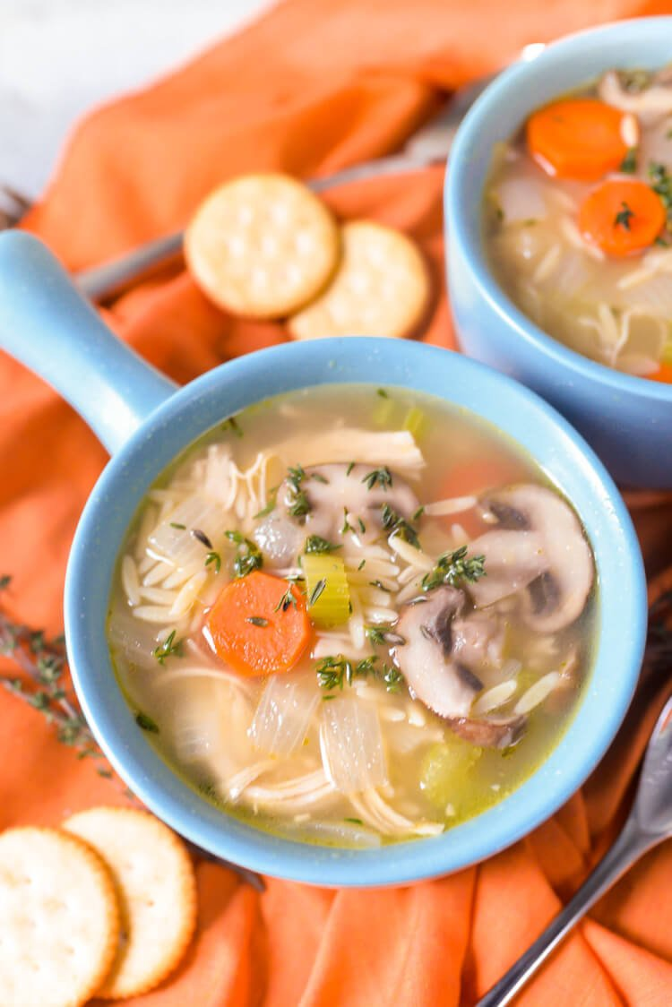 Chicken orzo soup is a delicious way to use up leftover chicken (or turkey!). It's the perfect easy weeknight meal that the whole family will love.