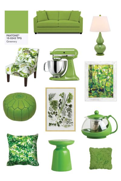 Pantone Greenery Color Inspiration