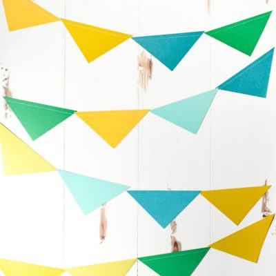 Easy Sewn Paper Pennants