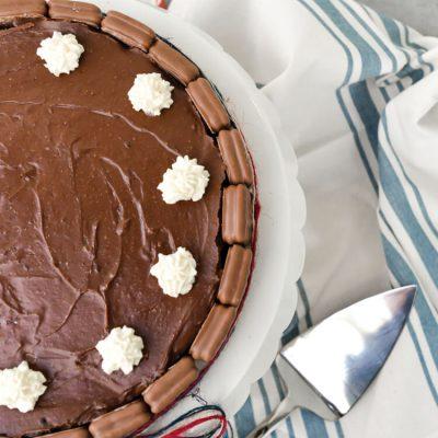 Chocolate Tim Tam Cheesecake for Australia Day
