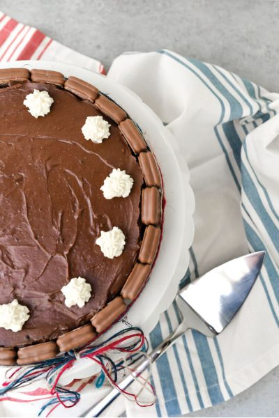 Chocolate Tim Tam Cheesecake for Australia Day