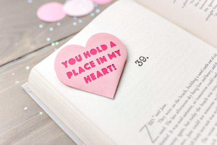 Valentine S Day Heart Bookmark Hey Let S Make Stuff