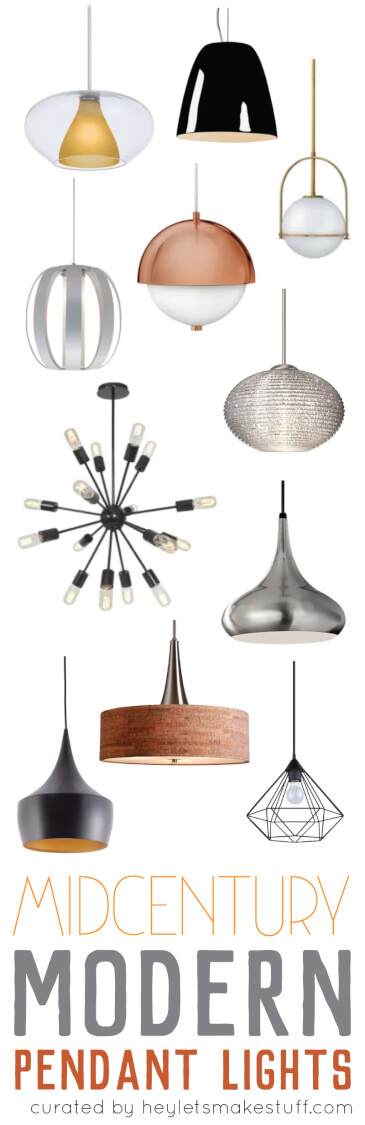 Choosing mid-century modern pendant lighting for your kitchen can be a daunting tasks. With so many styles, finishes, and uses, how do you know which one will work best for you? Here are my top ways to choose the perfect pendant.