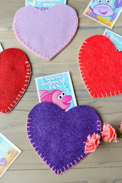 Valentines Day Felt Heart Pockets