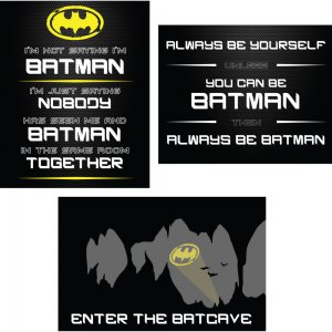 These free Batman printables are perfect for super hero birthday parties or kids' bedroom decor.