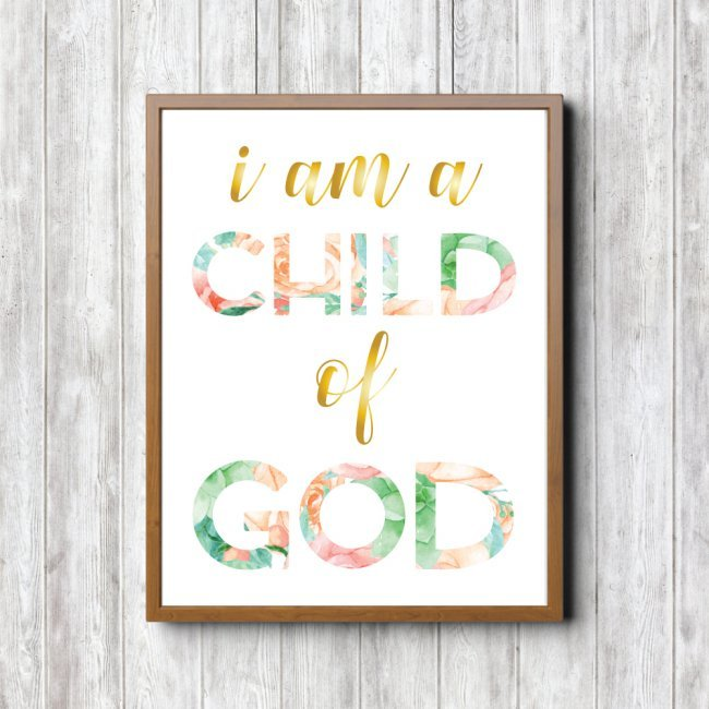 This print is perfect for hanging in a nursery or little girl's room to remind your child of just who they are! Also available as a set of four printables.