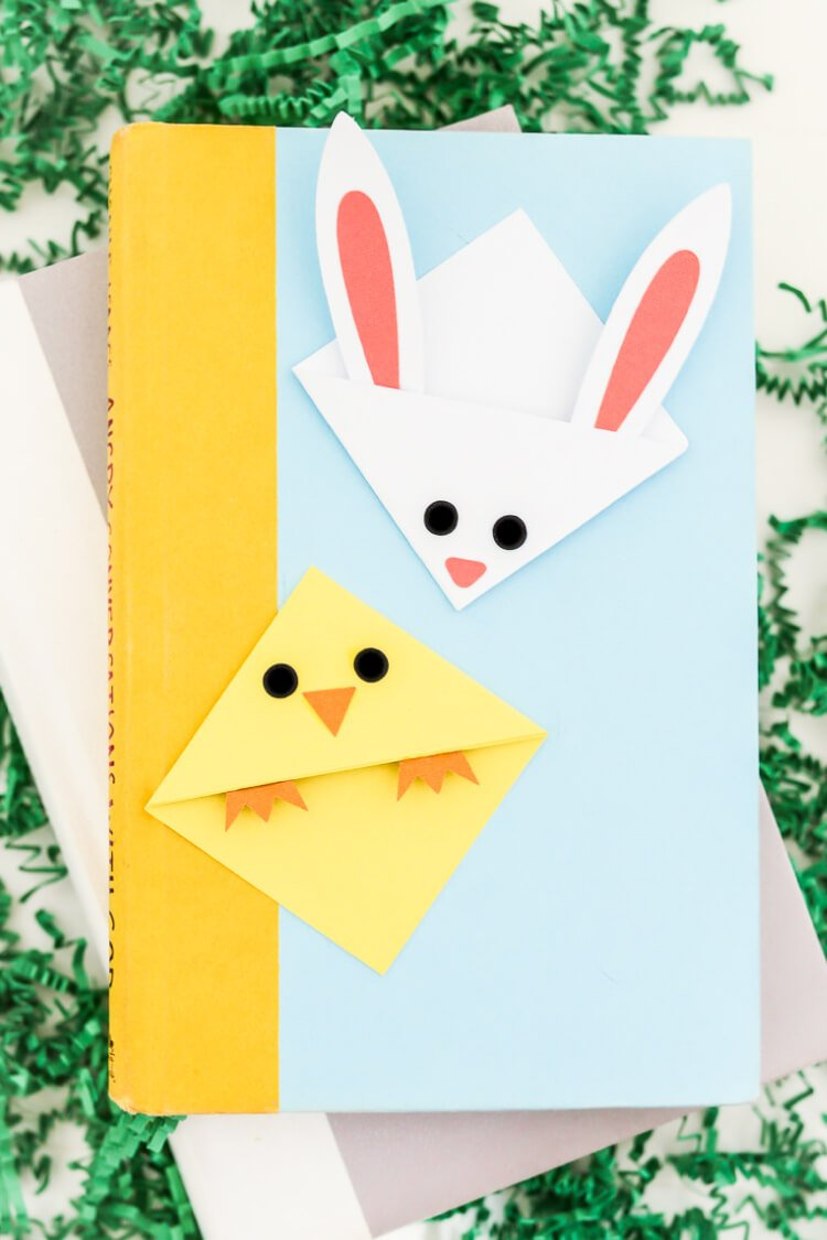 easter bunny corner bookmark easter bookmarks bunny and hey let s make stuff 4298