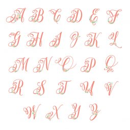 These feminine floral nursery initials are the perfect finishing touch to your little girl's room! Download all 26 letters for free and print at home.