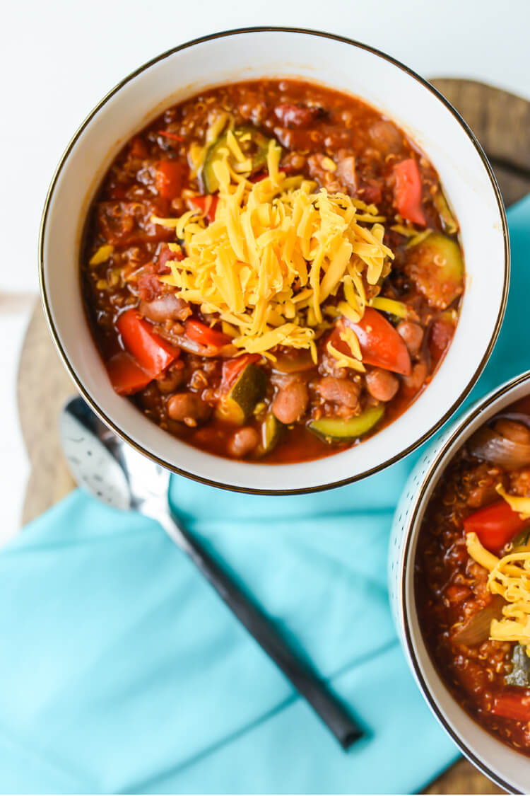 Instant Pot Vegetarian Chili With Quinoa Hey Let S Make