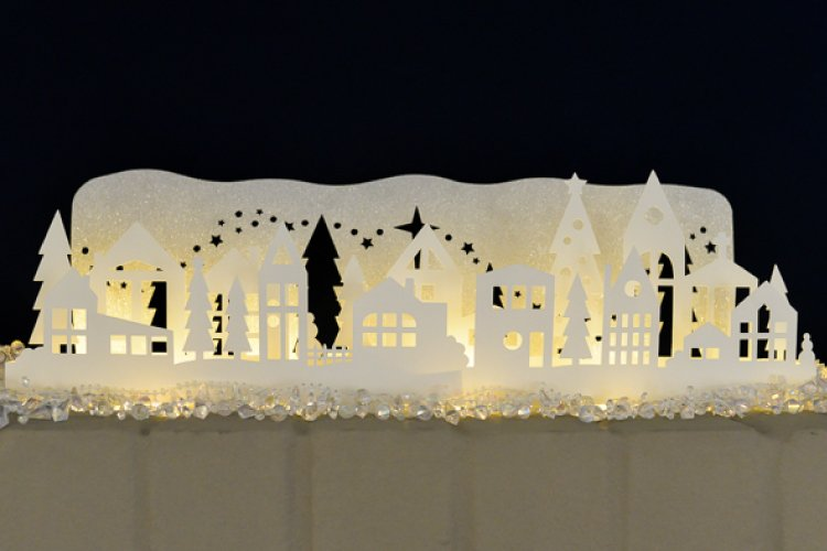 Winter Wonderland Christmas Luminaria With The Cricut Get The Svg