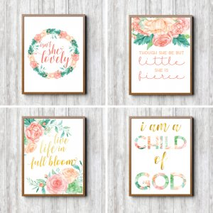Pink-Floral-Nursery-Prints