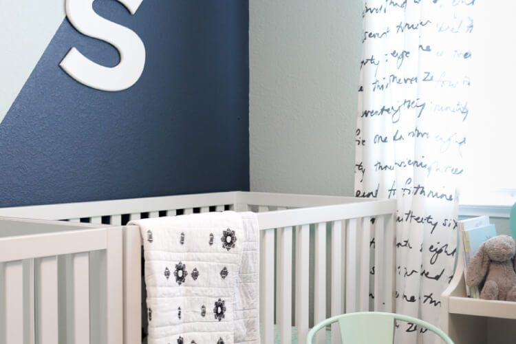 How to Paint a Geometric Wall in your Nursery