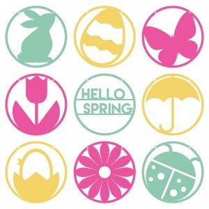 Hey Let's Make Stuff - Hello-Spring-Pennants