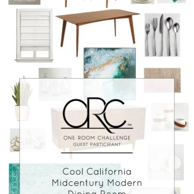 Cool California Midcentury Modern Dining Room Plan (ORC Week #1)