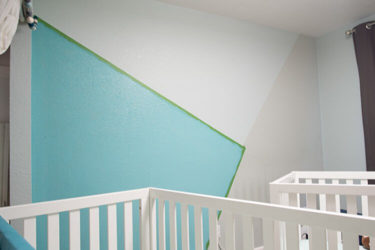 Skip The Traditional Nursery And Create Bold Bright Feature Wall Here S How To Paint