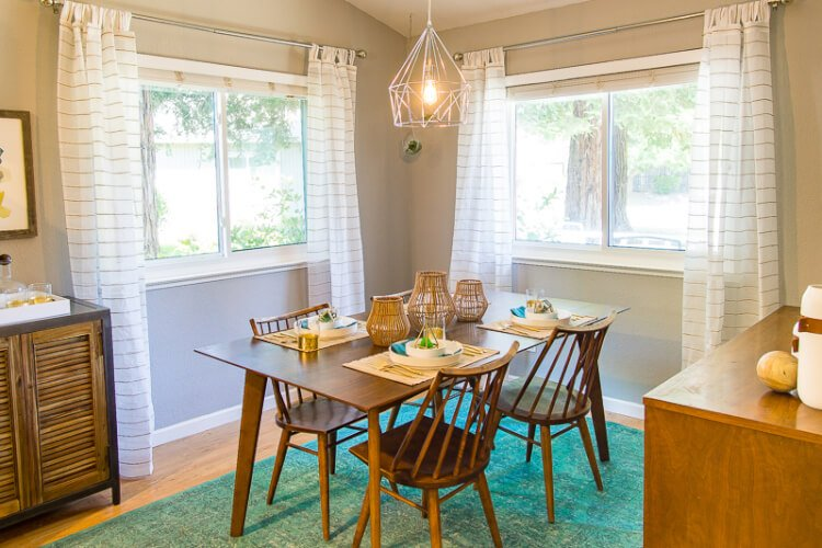 California Cool Midcentury Modern Dining Room Reveal
