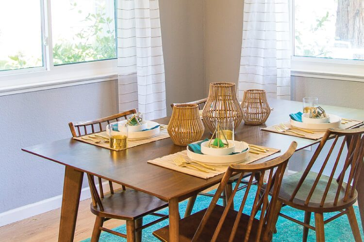 California Cool Midcentury Modern Dining Room Reveal