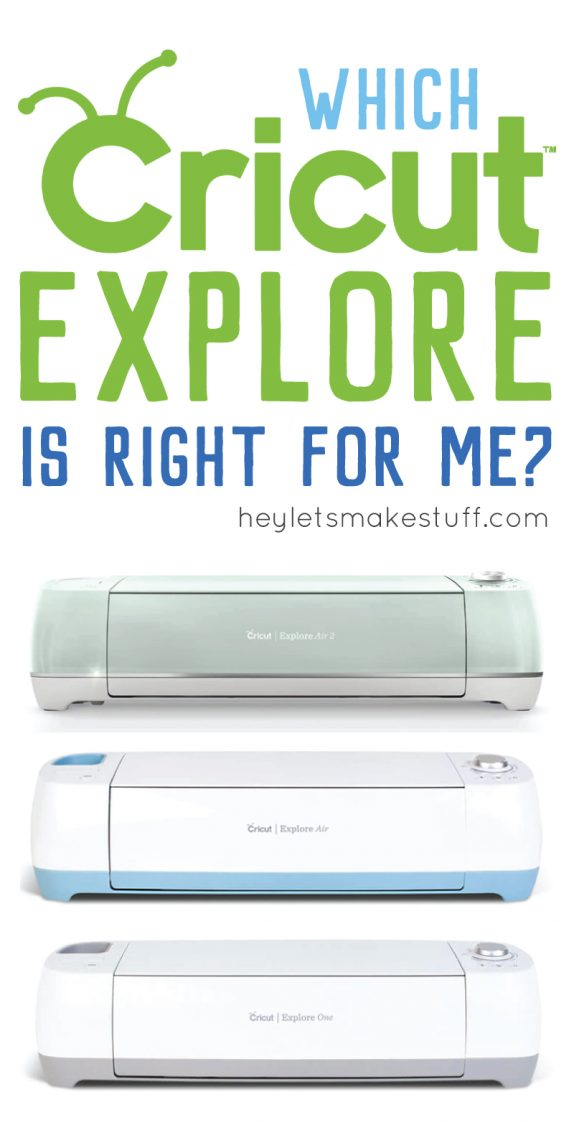 If you're thinking of buying a Cricut Explore machine, this handy guide will help you choose the right machine for the things you want to do.