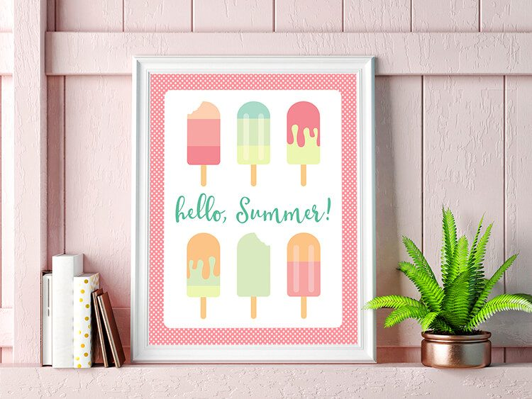 Get ready for summer with free popsicle SVG / DXF cut files and PNG clip art! Eight delicious designs for all of your summer projects.