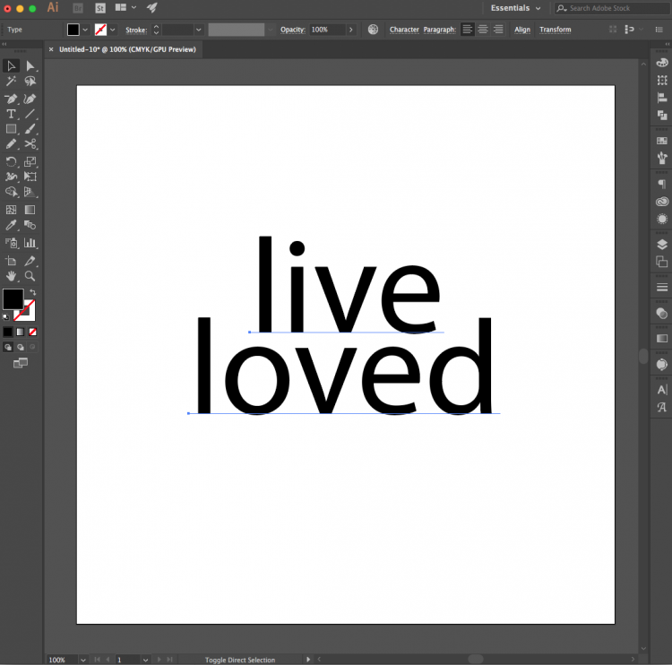 How to Create Text In Illustrator - Learn the basics for creating a simple SVG cut file in Illustrator that can then be cut using a Cricut Explore or Silhouette Cameo.