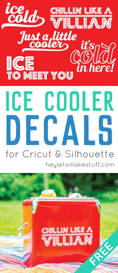 Deck out your cooler with one of these free cut files for the Cricut or Silhouette! These ice cooler decals are a fun way to make your cooler, well, cooler!