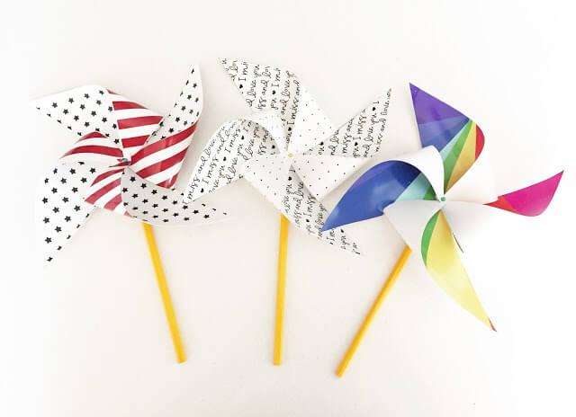 Lolly Jane - Patriotic Pinwheels - Celebrate the 4th of July with these free patriotic printables! Get more than 20 red, white, and blue printables from your favorite bloggers!