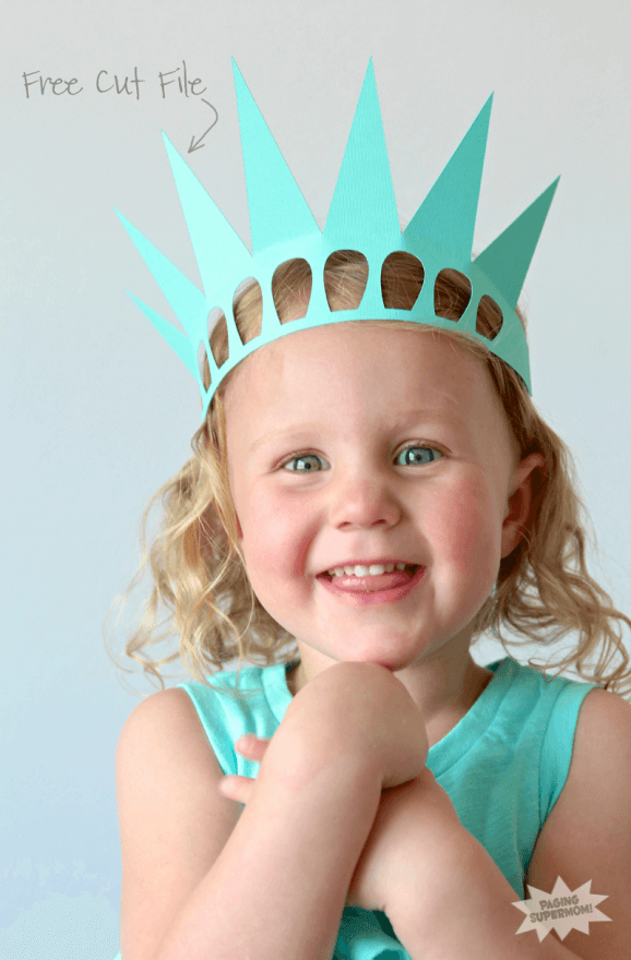 Easy Statue of Liberty paper Crown