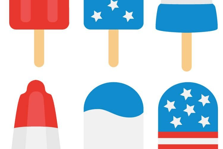 4th of July Popsicle Cut Files + Clip Art – Freebie Friday