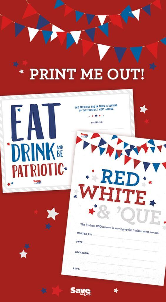 Patriotic Printables Decor And Party Ideas Hey Lets Make Stuff