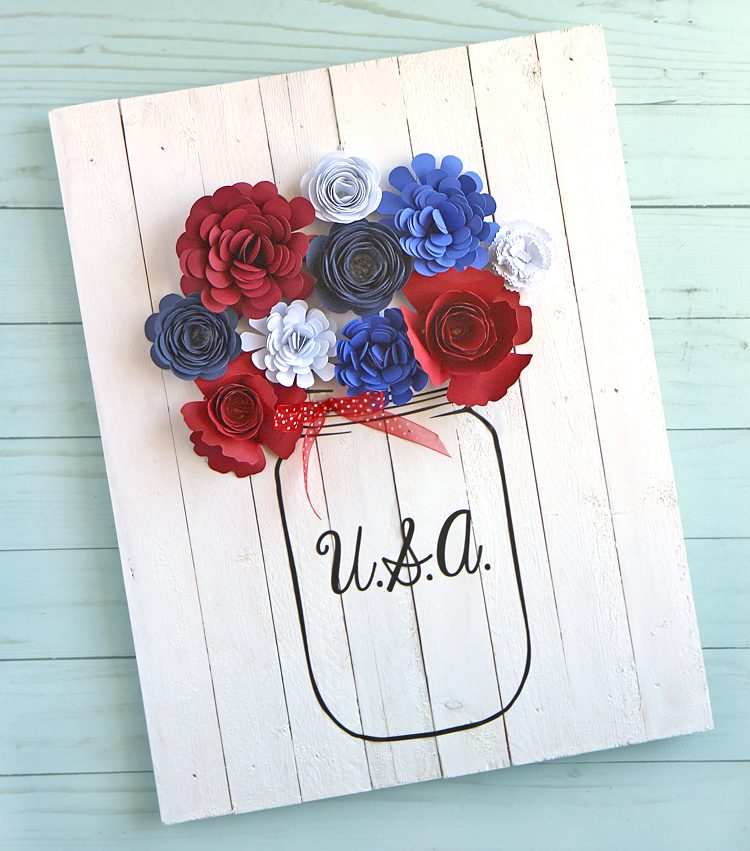 patriotic pallet wood sign
