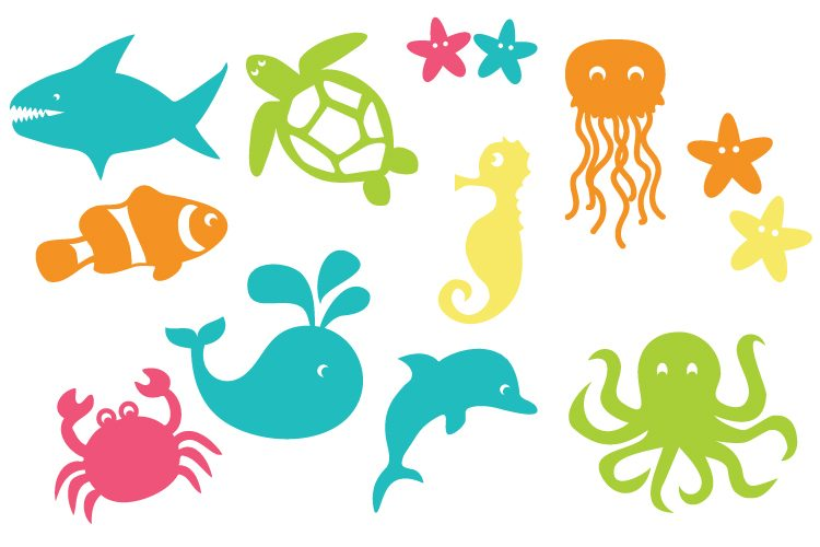 under the sea cut files and clip art hey let s make stuff rh heyletsmakestuff com under the sea clip art free under the sea clip art black and white set